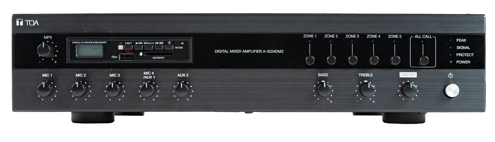 A-3248DMZ Digital Mixer Amplifier with MP3 and Zones