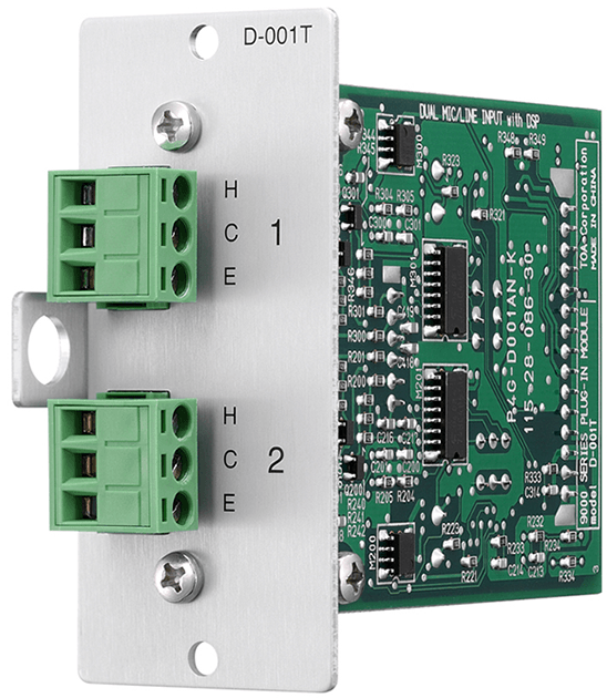D-001T Dual Mic/Line Input Module with DSP