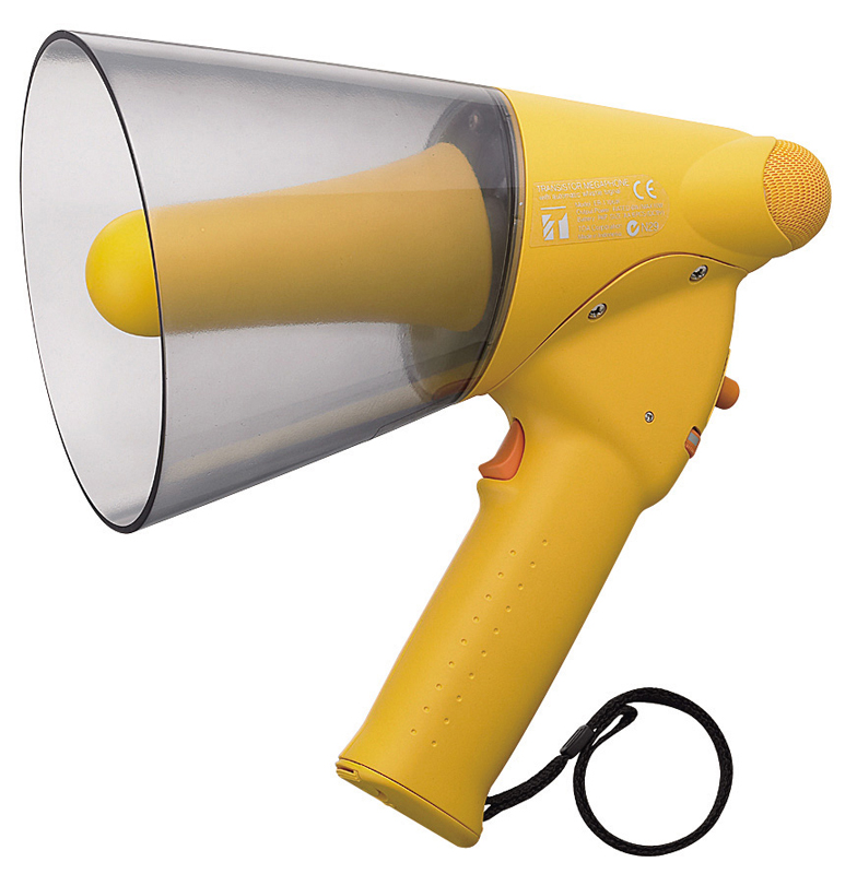 ER-1206W (10W max.) Splash-proof Hand Grip Type Megaphone with Whistle